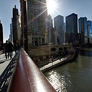 Chicago River at Michigan Avenue on DuSable Bridge