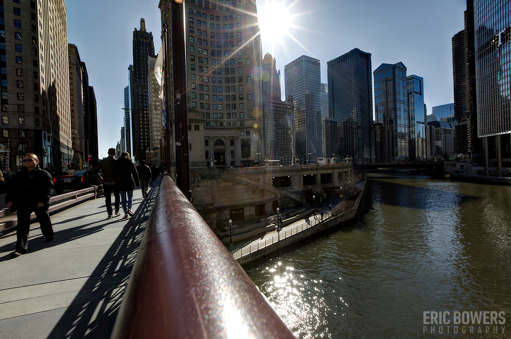 Chicago River at Michigan Avenue on DuSable Bridge