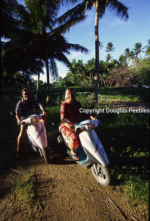 Motorcycling, Aitutaki, Cook islands<br />
