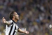 © Filippo Alfero<br /> Juventus-Malmoe, Champions League 2014/2015<br /> Torino, 16/09/2014<br /> sport calcio<br /> Nella foto: esultanza Carlos Tevez dopo gol