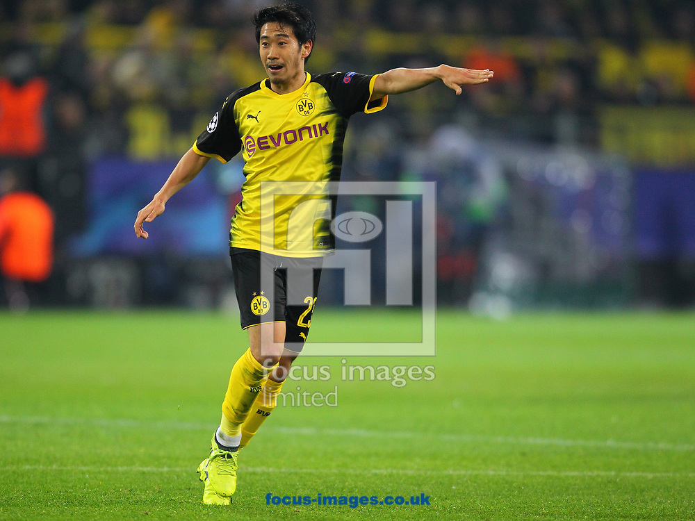 Shinji Kagawa of Borussia Dortmund during the UEFA Champions League match at Signal Iduna Park, Dortmund<br /> Picture by Yannis Halas/Focus Images Ltd +353 8725 82019<br /> 21/11/2017