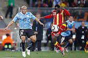©Jonathan Moscrop - LaPresse<br /> 02 07 2010 Johannesburg ( Sud Africa )<br /> Sport Calcio<br /> Uruguay vs Ghana - Mondiali di calcio Sud Africa 2010 Quarti di finale - Soccer City Johannesburg<br /> Nella foto: Kwadwo Asamoah ed Egiodio Arevalo<br /> <br /> ©Jonathan Moscrop - LaPresse<br /> 02 07 2010 Johannesburg ( South Africa )<br /> Sport Soccer<br /> Uruguay versus Ghana - FIFA 2010 World Cup South Africa Quarter final - Soccer City Stadium<br /> In the Photo: Kwadwo Asamoah and Egiodio Arevalo
