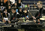 Centerville High School competes at the Dayton Percussion Regional Finals, in the James Trent Arena, Sunday afternoon.