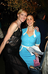 Left to right, JADE PARFITT and ZITA LLOYD at an exclusive evening featuring the greatest talents in fashion today in aid of the African children who have been affected bt the AIDS epidemic held at the Chelsea Gardener, Sydney Street, London on 20th September 2004<br />