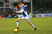 Bristol Rovers Rory Gaffney (30) sprints with the ball  during the EFL Sky Bet League 1 match between Bristol Rovers and Doncaster Rovers at the Memorial Stadium, Bristol, England on 23 December 2017. Photo by Gary Learmonth.