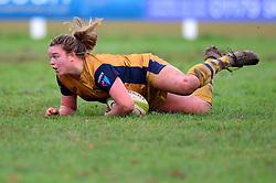 Sarah Bern of Bristol Ladies scores a try - Mandatory by-line: Dougie Allward/JMP - 11/12/2016 - RUGBY - Cleve RFC - Bristol, England - Bristol Ladies v Darlington Mowden Park Ladies - RFU Women's Premiership