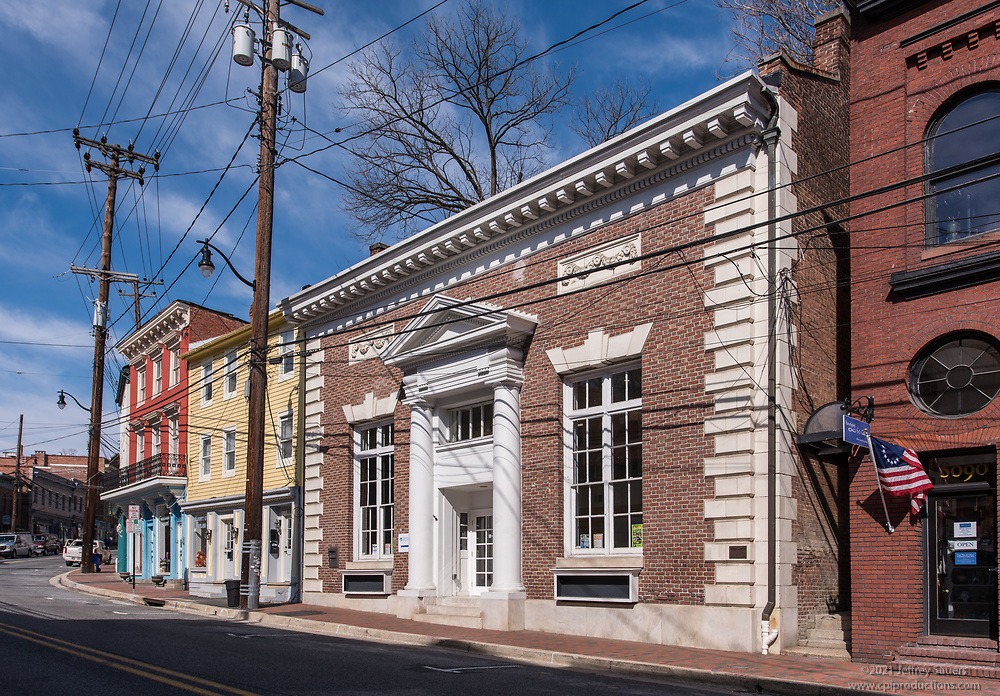 Exterior Photo of Millworks in Ellicott City MD by Jeffrey Sauers of Commercial Photographics, Architectural Photo Artistry in Washington DC, Virginia to Florida and PA to New England