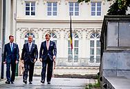 BRUSSEL - Koning Filip der Belgen, Groothertog Henri van Luxemburg en Koning Willem-Alexander  tijdens de viering van de zestigste verjaardag van het samenwerkingsverband tussen Nederland, Belgie en Luxemburg (Benelux). ANP ROYAL IMAGES ROBIN UTRECHT PLUS