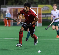 Southgate v Canterbury - Men's Hockey League Division 1 South  at Southgate Hockey Centre, Trent Park, London, England on 28 September 2019.<br /> Photo by Simon Parker/SP Action Images