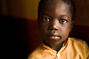 Boy at the Nyologu Primary School in the village of Nyologu, northern Ghana, on Wednesday June 6, 2007.
