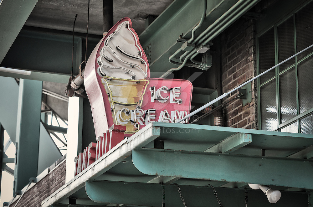 Ice cream shop outside of Fenway Park.