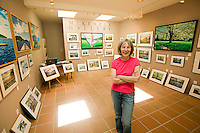 Art galleries representing the many Artisans' on the Gulf Islands are a pleasure to stroll through; this particular gallery is on Mayne Island.  Gulf Islands, British Columbia, Canada.
