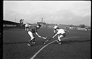 01/02/1964<br /> 02/01/1964<br /> 01 February 1964<br /> Interprovincial Mens Hockey, Ulster v Munster at Londonbridge Road, Sandymount, Dublin. J. Shanks, Ulster centre forward and Geary (Munster) in a tussle for the ball.