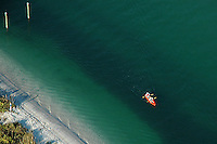 Aerial photographs of couple kayaking off west coast of Florida
