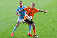 Brisbane Roar forward Adam Taggart (9) in action at the Hyundai A-League Round 13 soccer match between Melbourne City FC and Brisbane Roar FC at AAMI Park in VIC, Australia 11th January 2019.