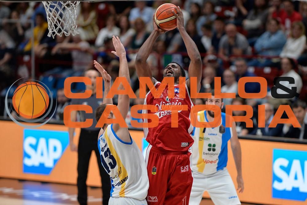 McLean Jamel<br /> Olimpia EA7 Emporio Armani Milano vs Vanoli Cremona<br /> Lega Basket Serie A 2016/2017<br /> PlayOff semifinale gara 2<br /> Milano 14/05/2017<br /> Foto Ciamillo-Castoria / I.Mancini
