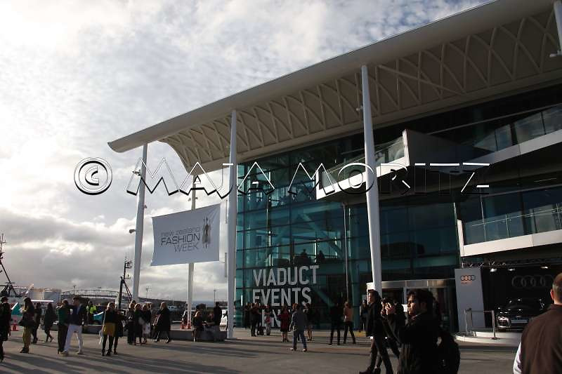 The new Viaduct Events Centre hosts the New Zealand Fashion Week at the moment