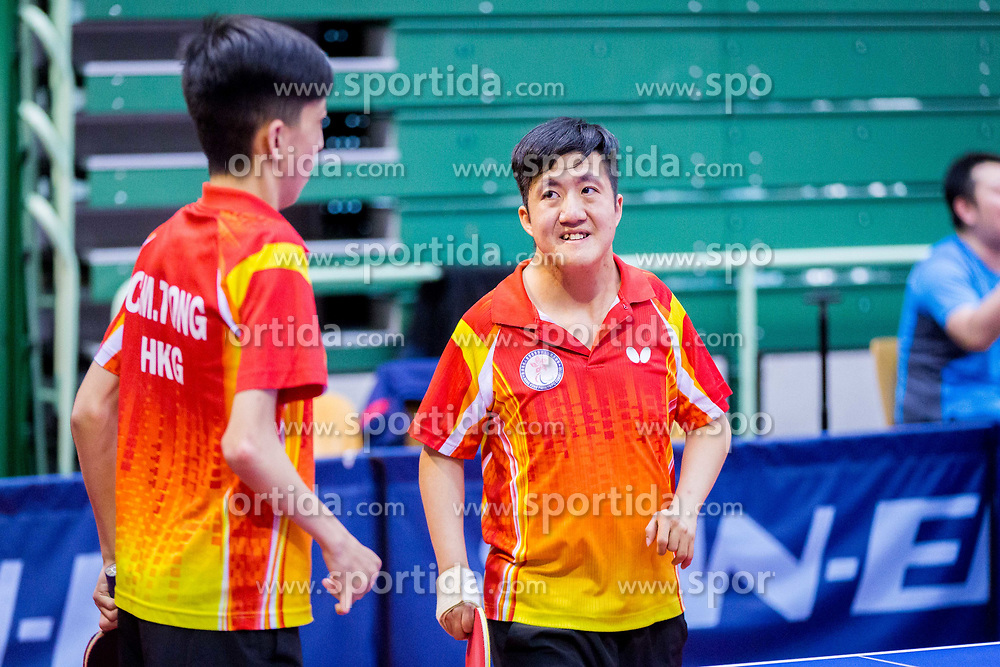 (Team HKG) TONG CHI YUNG and TONG Chi Ming in action during 15th Slovenia Open - Thermana Lasko 2018 Table Tennis for the Disabled, on May 10, 2018 in Dvorana Tri Lilije, Lasko, Slovenia. Photo by Ziga Zupan / Sportida