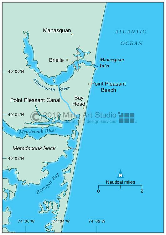 Vector map of Manasquan, New Jersey