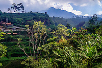 Indonesia, Java, Bandung. The landscape around Bandung is green and fertile.