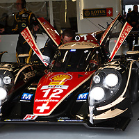 No.12 Rebellion car in the pits prior to Friday morning practice, FIA WEC 2013 6h of Silverstone