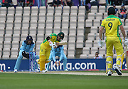 David Warner batting during the ICC Cricket World Cup 2019 warm up match between England and Australia at the Ageas Bowl, Southampton, United Kingdom on 25 May 2019.