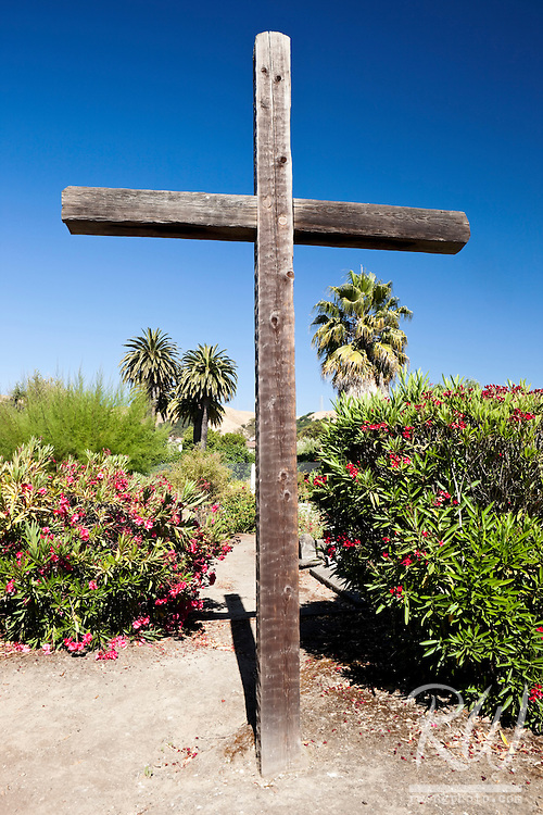 Christian Cross in Cemetery at Mission San Jose, Fremont, California