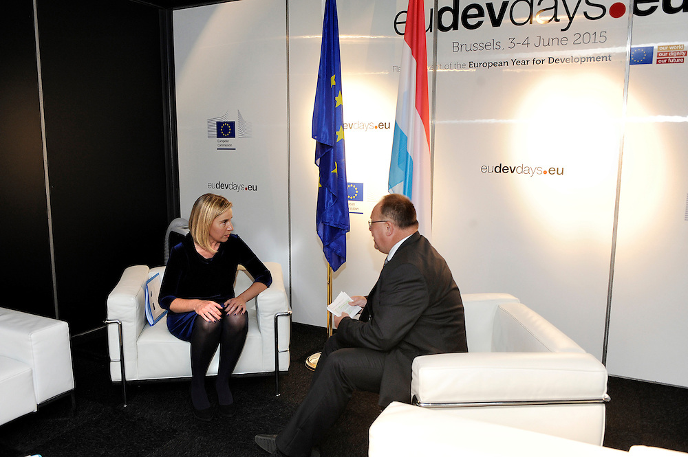 20150603- Brussels - Belgium - 03 June2015 - European Development Days - EDD  -  Mogherini and Schneider Luxembourg © EU/UE