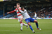 Bury Midfielder, Tom Soares in action during the Sky Bet League 1 match between Bury and Doncaster Rovers at the JD Stadium, Bury, England on 9 April 2016. Photo by Mark Pollitt.