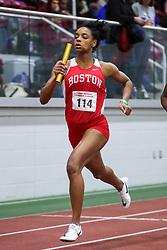 4x400 relay, Boston U, Coverson<br /> BU Terrier Indoor track meet