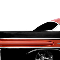 A high contrast edit of a classic cruiser.  The 1957 Chevy has the most iconic tail fin, but this pontiac's fin is pretty interesting as well!