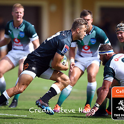 Jeremy Ward of the Cell C Sharks on attack during The Cell C Sharks warm up match with the  Vodacom Bulls, at Ashton International College Albertina Way, Dolphin Coast  Ballito - Kwazulu- Natal, South Africa 9th February 2019 (Photo by Steve Haag)