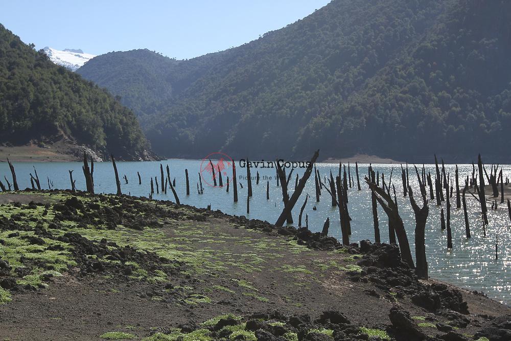 Laguna, Quilillo O Verde, Volcano, Llaima, Conguill&iacute;o National Park,<br /> Parque Nacional Conguill&iacute;o, Chile, Patagonia