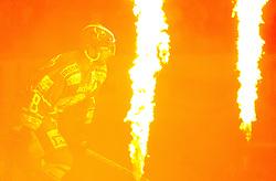 12.09.2010, Dom Sportova, Zagreb, CRO, EBEL, KHL Medvescak Zagreb vs Red Bull Salzburg, im Bild Feature Eishockey Flammen Spieler, EXPA Pictures © 2010, PhotoCredit: EXPA/ nordphoto/ pixsell/ Slavko Midzor *** ATTENTION *** GERMANY OUT! / SPORTIDA PHOTO AGENCY