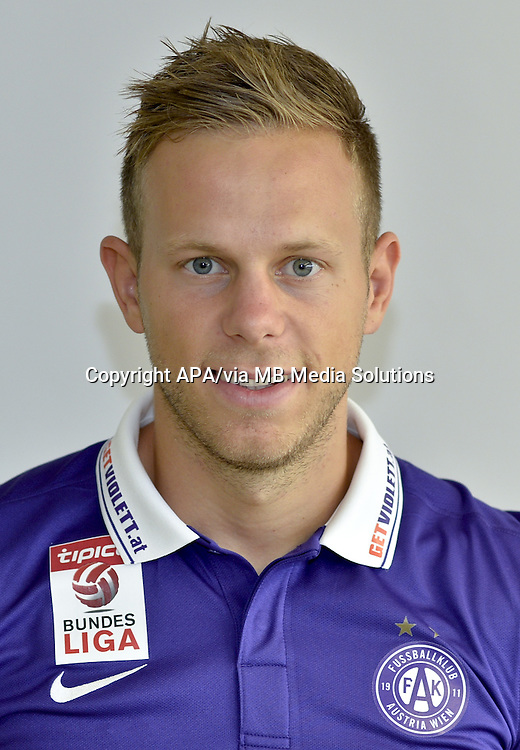 Vienna - Portraits of the football players of the Austrian football club FK Austria Wien on 1st July 2015.   PICTURE:  Marco Meilinger - 20150701_PD2307
