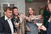 GRAEME SIMSION; FIONA MCMORROW; LOUISE JURY, Graeme Simsion: The Rosie Project - press launch party. The Ivy Club, , 1-5 West Street, London, WC2H 9NQ,