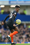 Chelsea midfielder Callum Hudson-Odoi (20) during the Premier League match between Everton and Chelsea at Goodison Park, Liverpool, England on 7 December 2019.