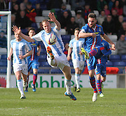 Inverness Caley Thistle's Graeme Shinnie and Dundee's David Clarkson - Inverness v Dundee  - SPFL Premiership at the Caledonian Stadium<br /> <br />  - © David Young - www.davidyoungphoto.co.uk - email: davidyoungphoto@gmail.com