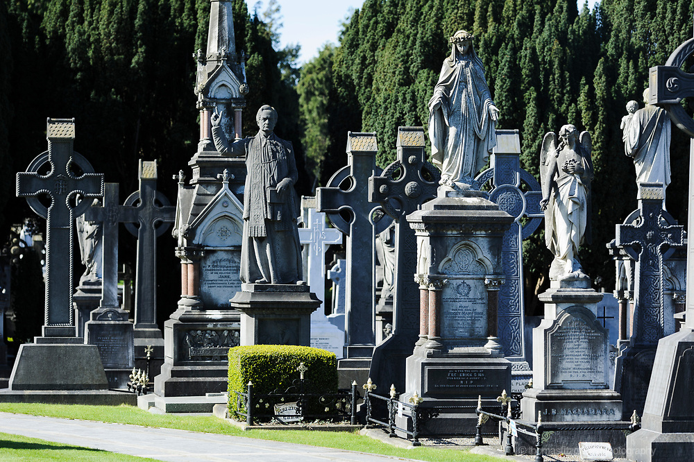 Graves at the Glasnevin Cemetry in North Co. Dublin