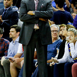 Mar 21, 2017; New Orleans, LA, USA; New Orleans Pelicans head coach Alvin Gentry against the Memphis Grizzlies during the second half of a game at the Smoothie King Center. The Pelicans defeated the Grizzlies 95-82. Mandatory Credit: Derick E. Hingle-USA TODAY Sports