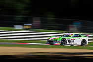 Autoaid/RCIB Insurance Racing Ginetta G55 GT4 with drivers Chris Milford & Matt Chapman during the British GT Championship Round 9 at  Brands Hatch England on 6 August 2017. Photo by Jurek Biegus.