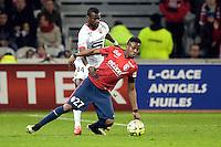 Divock Origi / Fallou Diagne - 15.03.2015 - Lille / Rennes - 29e journee Ligue 1<br /> Photo : Andre Ferreira / Icon Sport