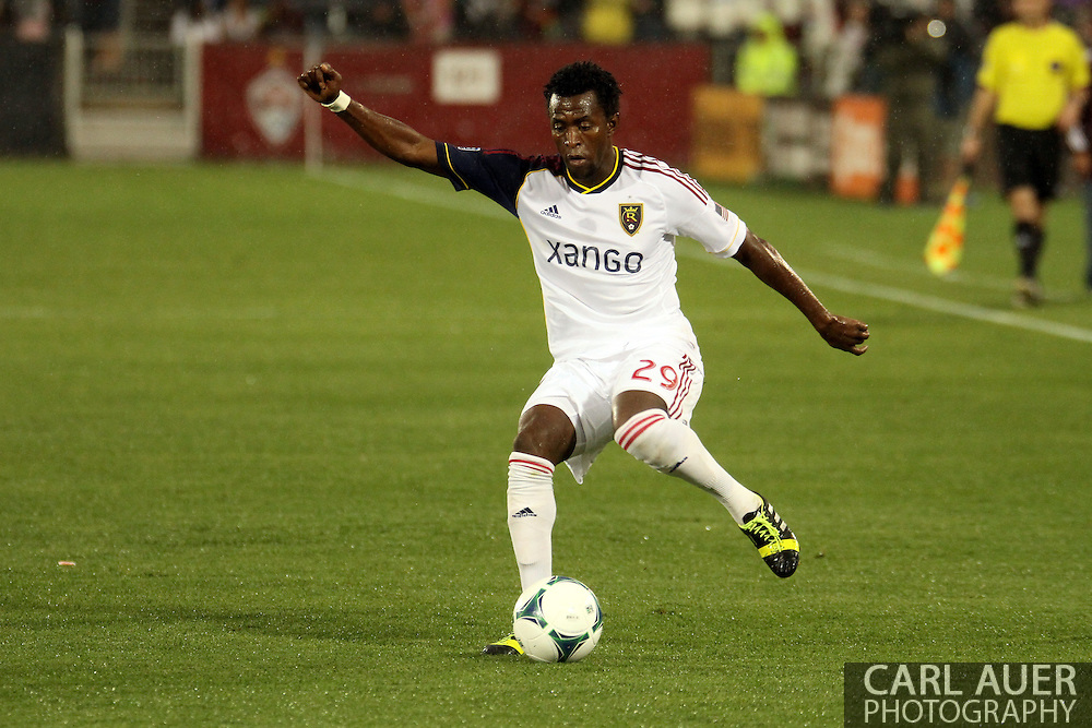 August 3rd, 2013 - Real Salt Lake defender/forward Abdoulie Mansally (29) makes a quick move in the first half of the Major League Soccer match between Real Salt Lake and the Colorado Rapids at Dick's Sporting Goods Park in Commerce City, CO