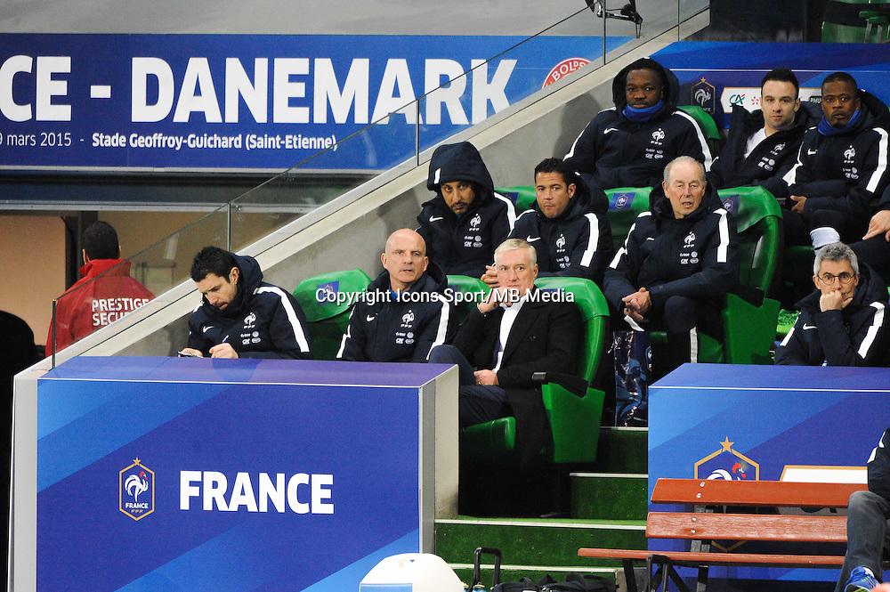 Franck RAVIOT / Guy STEPHAN / Didier DESCHAMPS - 29.03.2015 - France / Danemark - Match amical -Saint Etienne-<br /> Photo : Jean Paul Thomas / Icon Sport