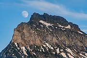 Moon rise over peak