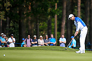 Another long putt from South African golf professional Jaco Van Zyl during the BMW PGA Championship at the Wentworth Club, Virginia Water, United Kingdom on 28 May 2016. Photo by Simon Davies.