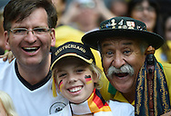 Fans of Germany during the 2014 FIFA World Cup match at Mineirão, Belo Horizonte<br /> Picture by Stefano Gnech/Focus Images Ltd +39 333 1641678<br /> 08/07/2014