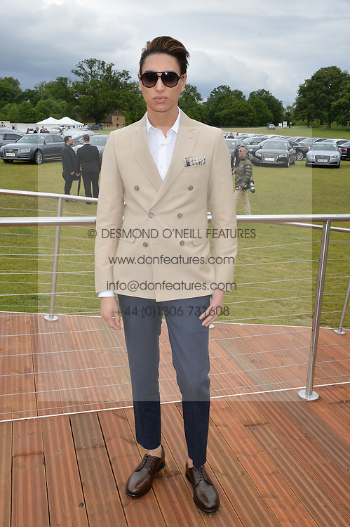 NAT WELLER at the Audi Polo Challenge at Coworth Park, Blacknest Road, Ascot, Berkshire on 31st May 2015.