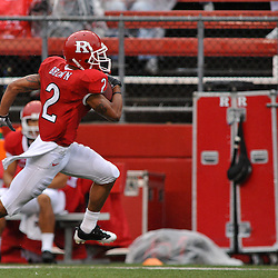 Sep 12, 2009; Piscataway, NJ, USA; Rutgers wide receiver Tim Brown (2) runs for a touchdown during the first half of Rutgers' 45-7 victory over Howard in NCAA College Football at Rutgers Stadium.