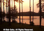 York Co., PA Park Lake Fishing at Sunset
